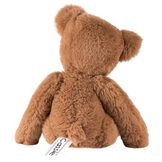 """15"""" Buddy Bear - Back view - Slim seated honey brown bear with tan paw pads and brown eyes image number 2"""