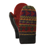 Bernie Mittens - Adult One Size Assorted multi colored wool blend mittens with fleece lining image number 9