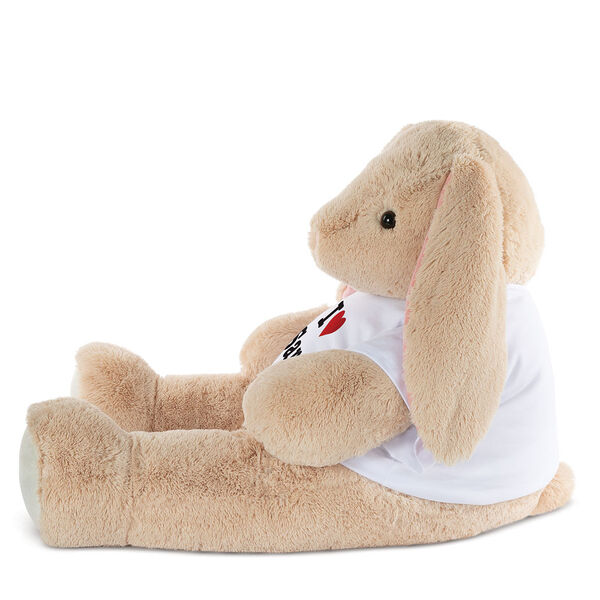 """4' """"I HEART You"""" T-Shirt Cuddle Bunny image number 1"""