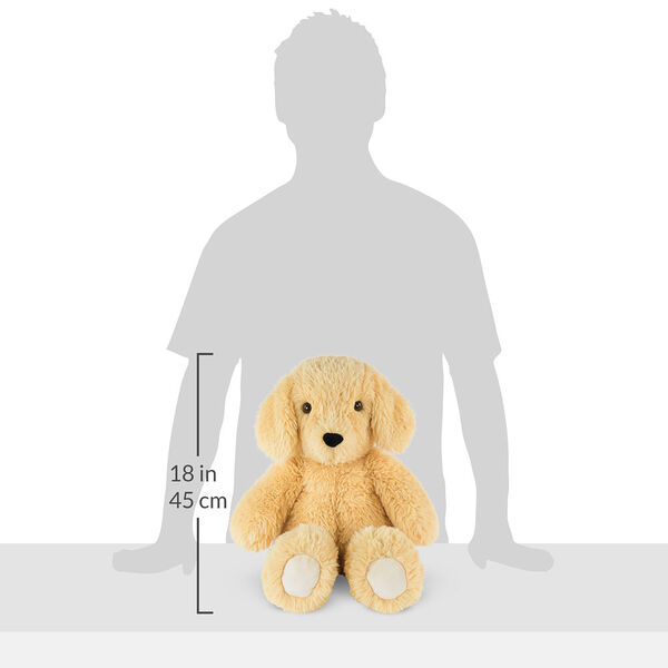 """18"""" Oh So Soft Puppy - Front view of seated tan 18"""" Puppy with tail and ivory foot pads measuring 18 in or 45 cm tall when standing image number 6"""