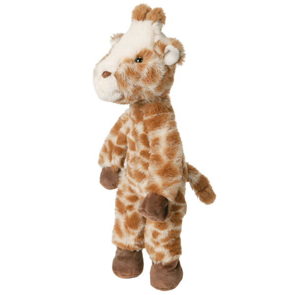 """15"""" Buddy Giraffe - Side view of standing brown and tan print giraffe with dark brown hooves and brown eyes image number 4"""