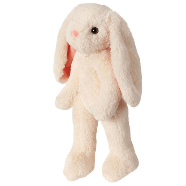 "15"" Buddy Bunny - Side View of standing ivory Bunny with pink ears and brown eyes image number 3"