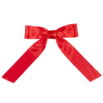 3' to 4' Red Satin Bow with Tails