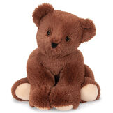 """24"""" Belly Bear - Front view of German Chocolate Bear with back legs tucked under image number 0"""