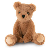 "12"" Buddy Bear -  Slim honey colored bear sitting with its legs out in front and arms tucked in image number 2"