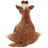 3 1/2' Gentle Giant Giraffe - Back view of seated soft giraffe with tail image number 2