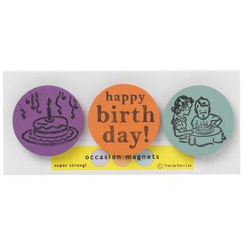 Happy Birthday Magnets (Set of 3)