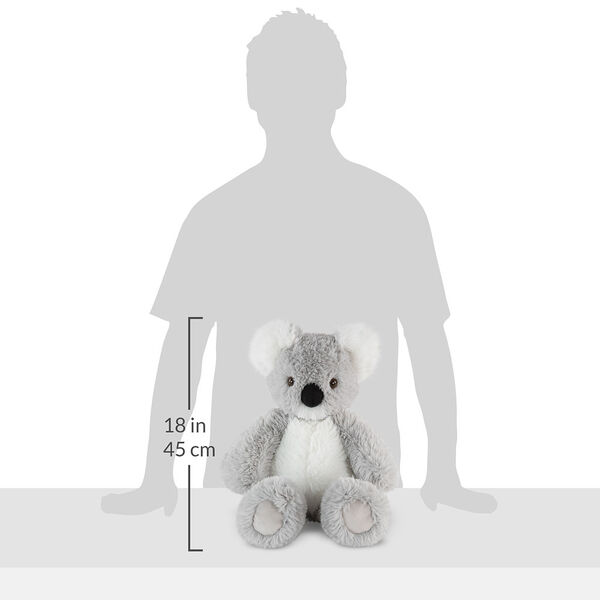 """18"""" Oh So Soft Koala - Front view of seated 18"""" gray koala with white muzzle, ears and belly measuring 18 in or 41 cm tall when standing image number 4"""