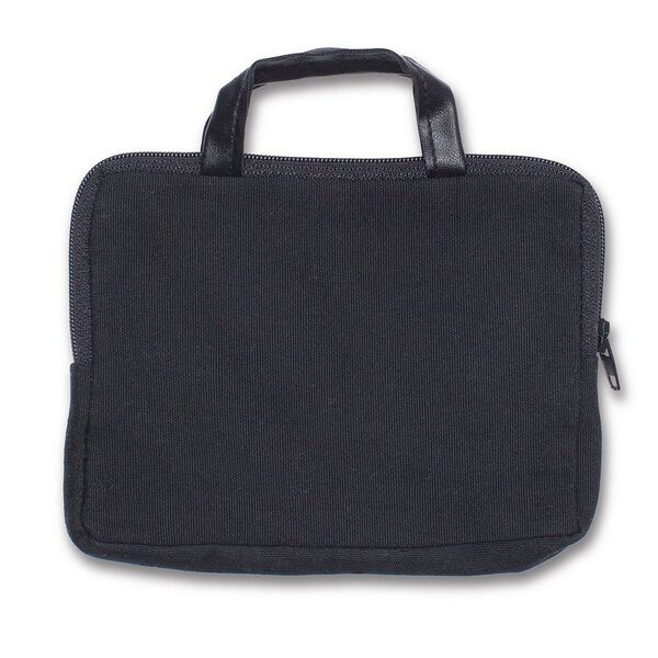 """Briefcase - black twill briefcase with zipper for 15"""" classic bears image number 0"""