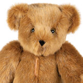 "15"" Love Your Heart Bear - Close up of seated jointed bear with embroidered scar down center of chest image number 2"
