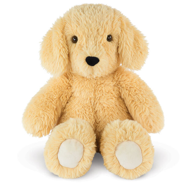 """18"""" Oh So Soft Puppy - Front view of seated tan 18"""" Puppy with tail and ivory foot pads image number 0"""