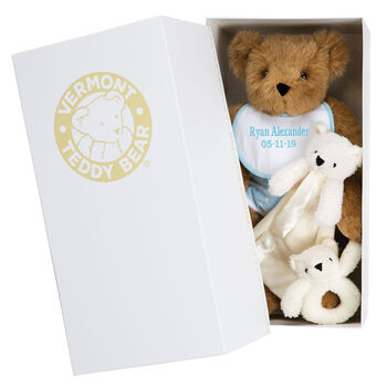 "Upgraded Packaging for 15"" Bears in White"