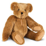 "15"" Love Your Heart Bear - Three quarter view of seated jointed bear with embroidered scar down center of chest image number 4"