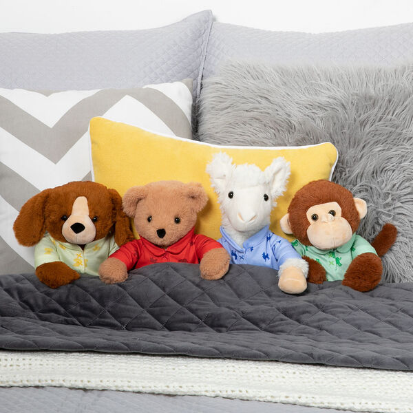 "13"" PJ Pal Llama - PJ Pal Teddy Bear, Llama, Puppy and Monkey tucked into Bed.  image number 7"