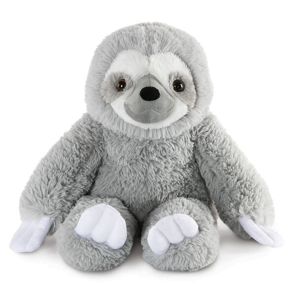 """18"""" Oh So Soft Sloth - Front view of seated gray 18"""" Sloth with white claws and face image number 0"""