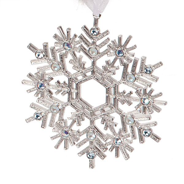 "15"" Limited Edition Snowflake Santa - close up of snowflake  image number 7"