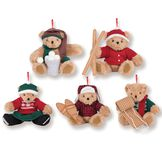Vintage Inspired Holiday Ornaments - Set of 5 image number 1