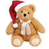 "20"" World's Softest Bear with Santa Hat image number 0"