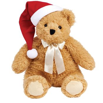 "20"" World's Softest Bear with Santa Hat"