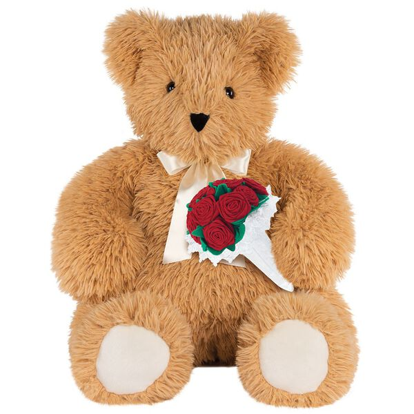 3' World's Softest Bear with Roses image number 0