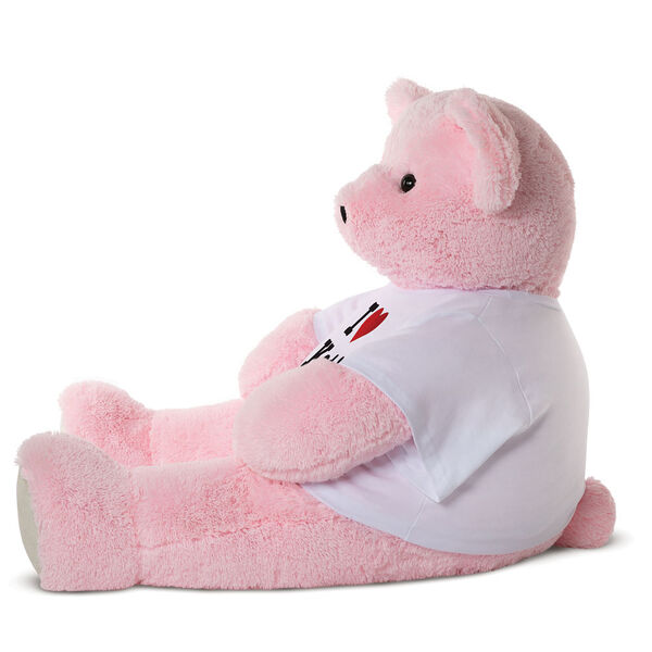 "4' ""I HEART You"" T-Shirt Pink Cuddle Bear image number 1"