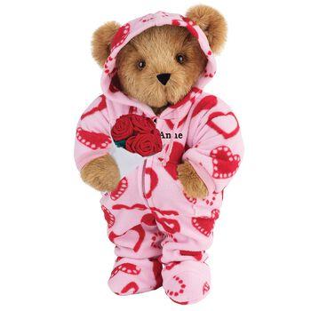 "15"" Hoodie-Footie™ Sweetheart Bear with Red Roses"