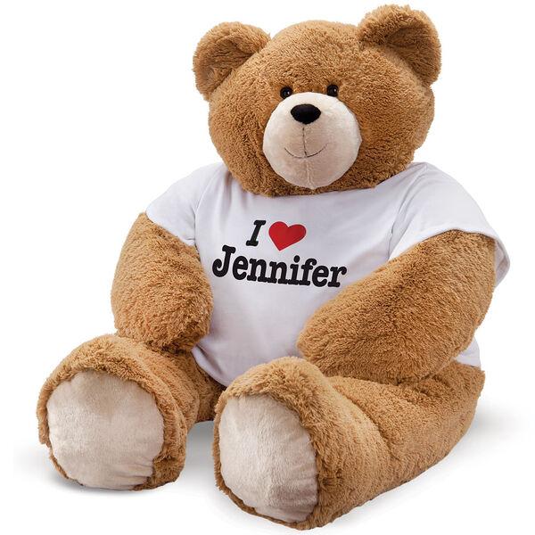 """6' Giant Hunka Love """"I Heart You"""" T-Shirt Bear image number 0"""