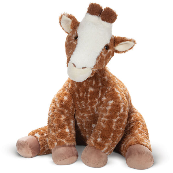 3 1/2' Gentle Giant Giraffe - Front view of seated soft giraffe image number 3