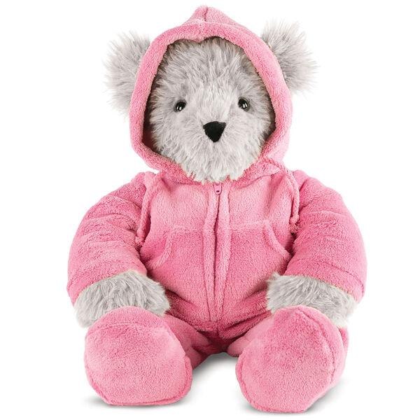 "18"" Gray Super Soft Pink Hoodie Footie Bear image number 0"