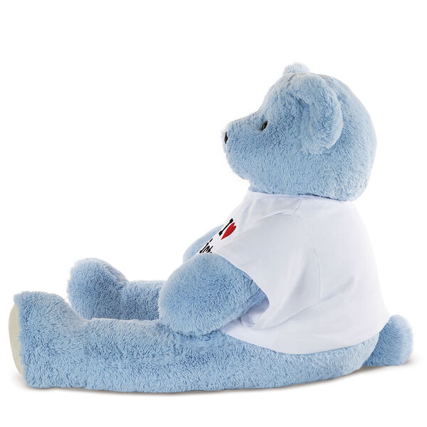 "4' ""I Heart You"" T-Shirt Blue Cuddle Bear image number 1"