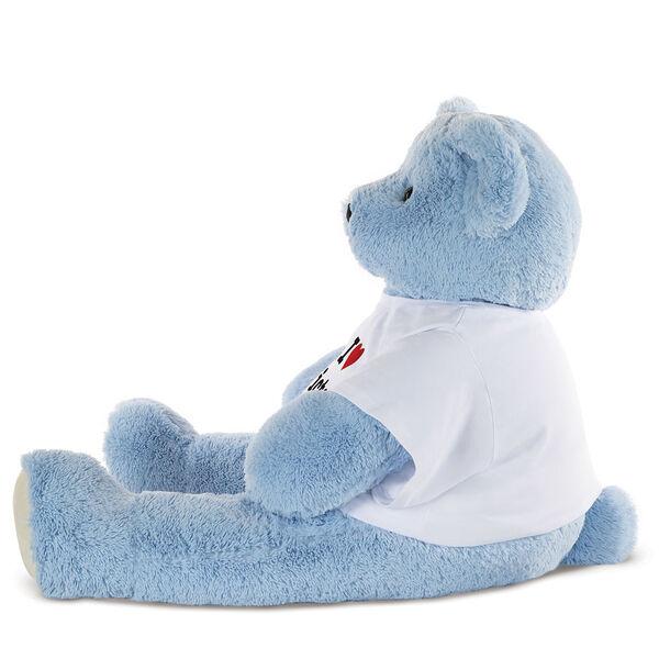 "4' ""I HEART You"" T-Shirt Blue Cuddle Bear image number 1"