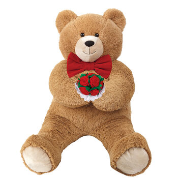 3' Hunka Love Bear with Bow Tie and Roses