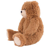 "18"" Love to the rescueandreg; Bear - Side view of seated fuzzy bear with brown eyes, tan muzzle and foot pads, black nose and smile - honey brown fur image number 1"