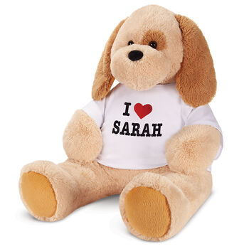 """4' """"I Heart You"""" T-Shirt Cuddle Puppy"""