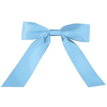 Blue Satin Bow with Tails