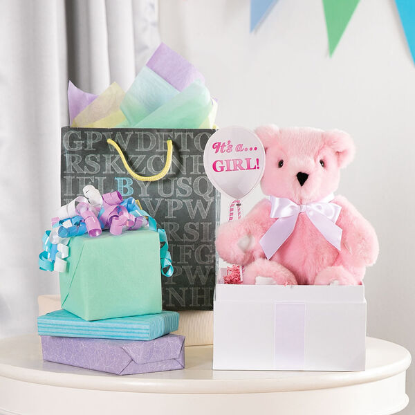 "11"" Gender Reveal Girl Bear image number 1"
