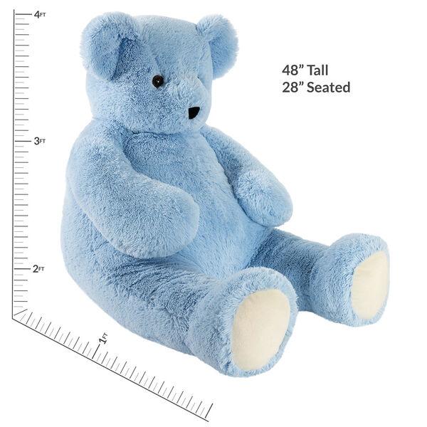4' Light Blue Cuddle Bear image number 6
