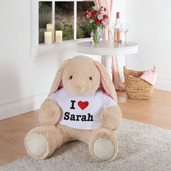 """4' """"I HEART You"""" T-Shirt Cuddle Bunny image number 5"""