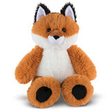 "18"" Oh So Soft Fox - Front view of seated red Fox with white belly and muzzle and black tipped ears and foot pads image number 0"