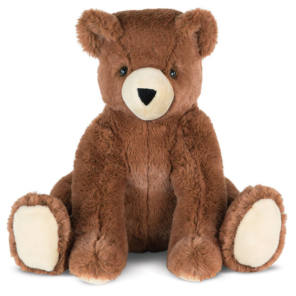 "18"" Softies Bear - Front view of seated 18"" german chocolate bear has paws out in front image number 1"