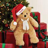 "20"" World's Softest Bear with Santa Hat image number 1"