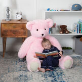 4' Pink Cuddle Bear image number 8