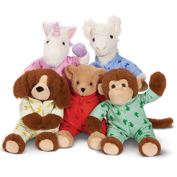 "13"" PJ Pal Llama - group image of PJ Pal Bear, LLama, Monkey, Puppy and Unicorn image number 2"