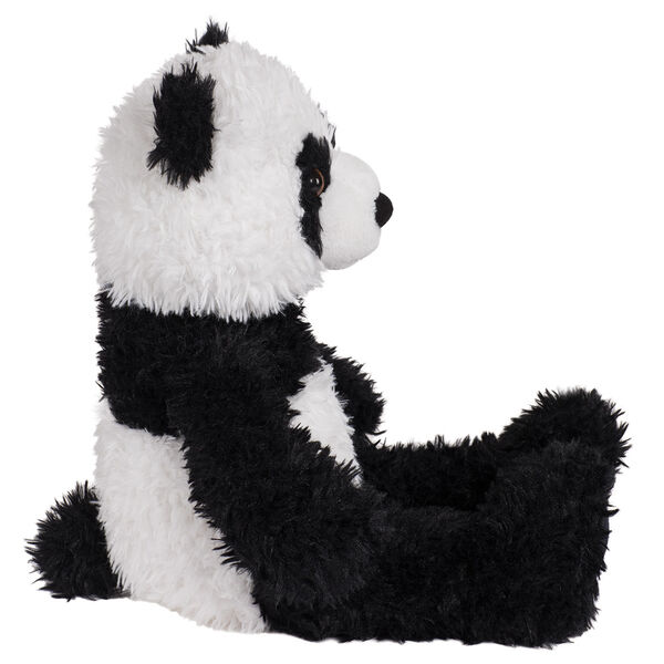"18"" Oh So Soft Panda Bear - Side view of seated black and white 18"" Panda Bear with tail  image number 4"