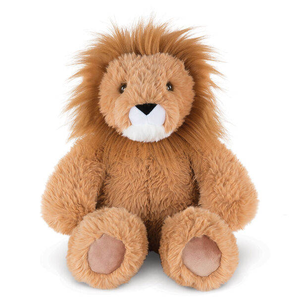 "18"" Oh So Soft Lion - Front view of seated 18"" brown lion with white muzzle and golden brown mane  image number 0"