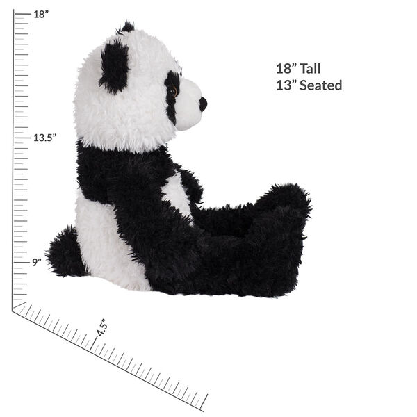 "18"" Oh So Soft Panda Bear - Front view of seated black and white 18"" Panda Bear with tail measuring 18 in or 41 cm tall when standing image number 6"