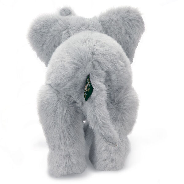 """15"""" Classic Elephant - Standing back view of gray plush elephant with tail.  image number 9"""