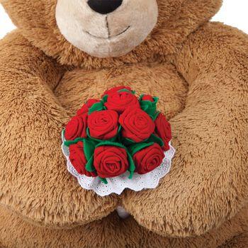 Giant Red Velvet Rose Bouquet