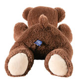 """24"""" Belly Bear - Back view of German Chocolate bear lying on its belly image number 5"""