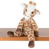 "15"" Buddy Giraffe - brown and tan print giraffe with dark brown hooves and brown eyes sitting on shelf image number 0"